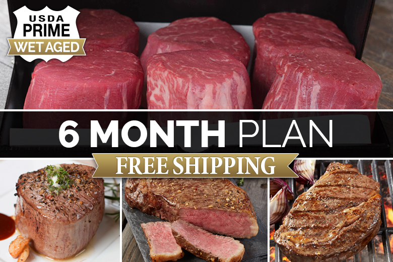 """Five Star Reserve Steaks 6 Month Plan 
