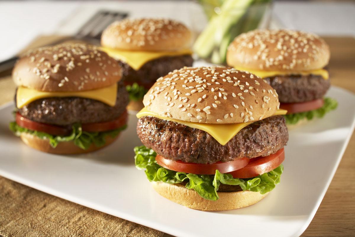 Image of 24 (4oz) Gourmet Angus Steak Burgers