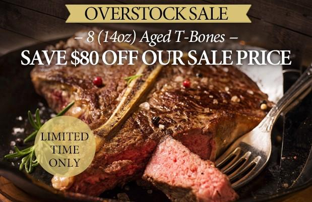 Premium Angus Beef - 8 (14oz) T-Bone