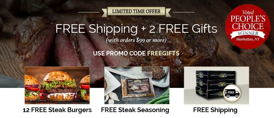 Exclusive Limited Time Offer -Free Shipping and 12 free burgers
