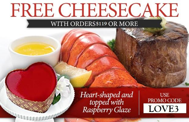 Free Heart Cheesecake & Free Shipping for Valentine's Day