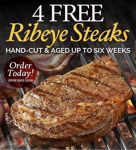 4 FREE Ribeyes on Orders $149 or More