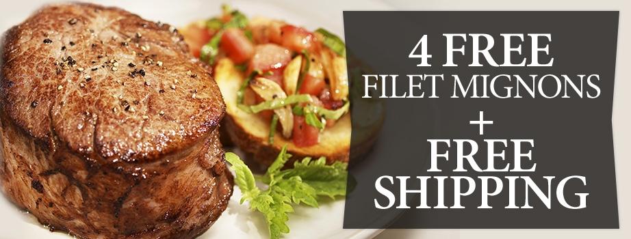 4 Free Filets & Shipping