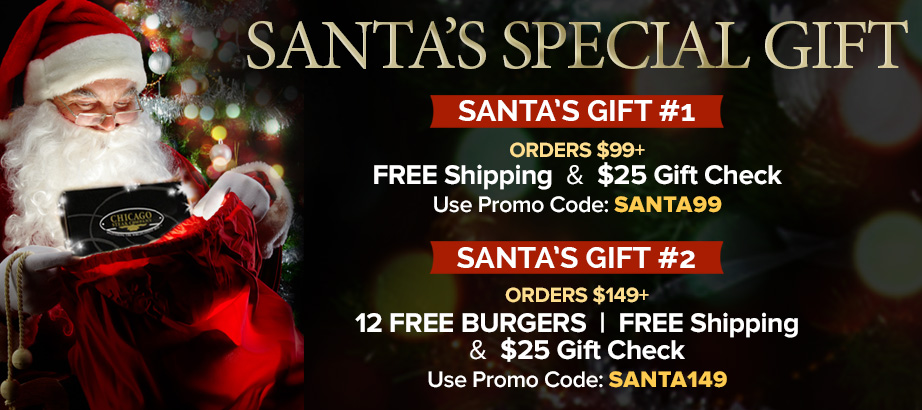 Santa's Special Gift - Free Shipping, Burgers, and a $25 Gift Check
