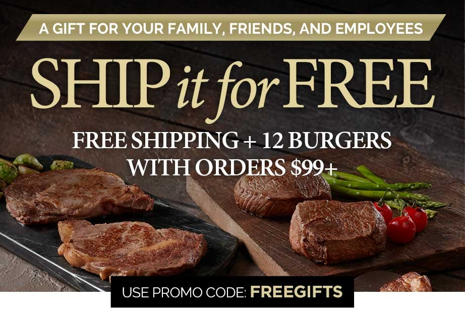 Send a care package and ship it for free - free shipping + 12 burgers on orders $99+ use promo code: FREEGIFTS