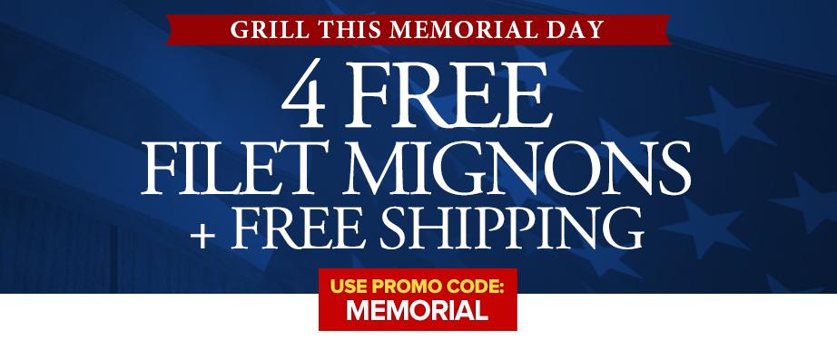 4 Filets & Free Shipping