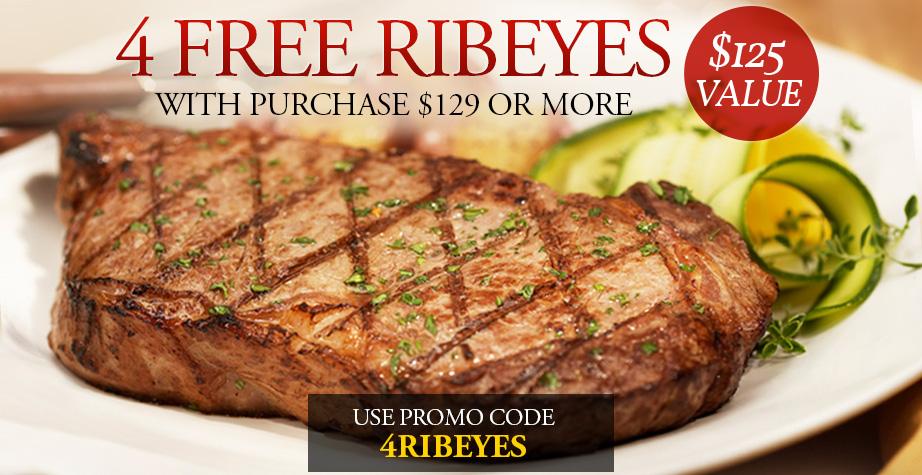 4 Free Ribeyes