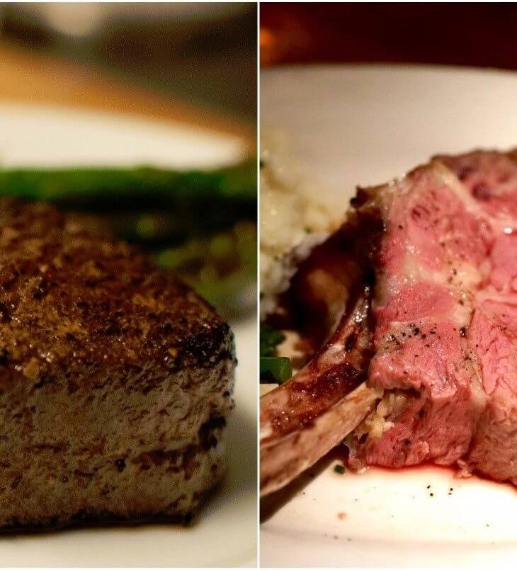 prime rib and ribeye cuts of beef
