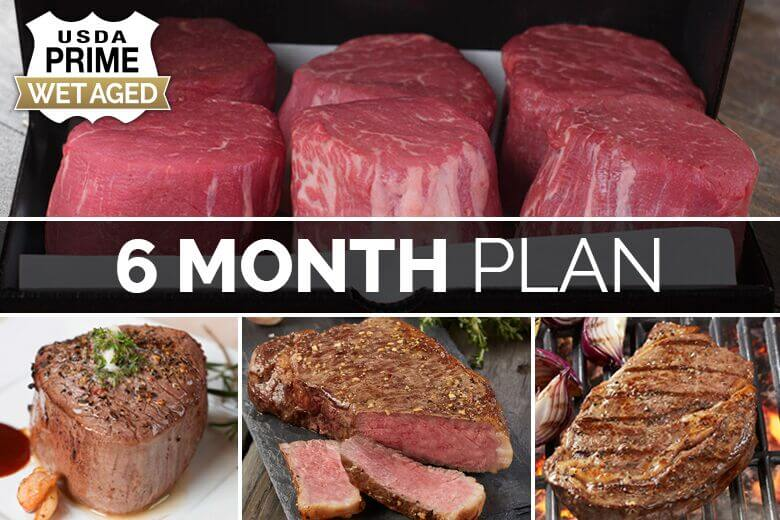 6-month steak delivery
