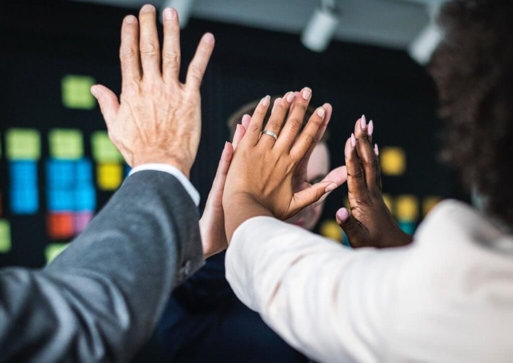 employee appreciation high fives -