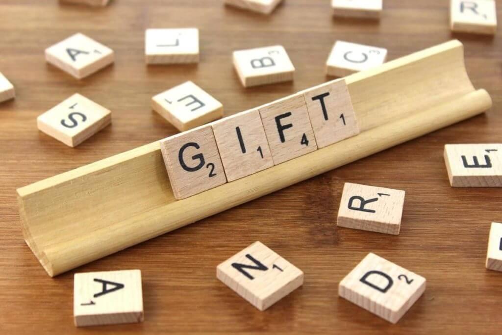 scrabble gifts lettters