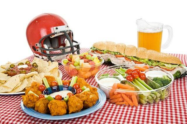 game day food spread