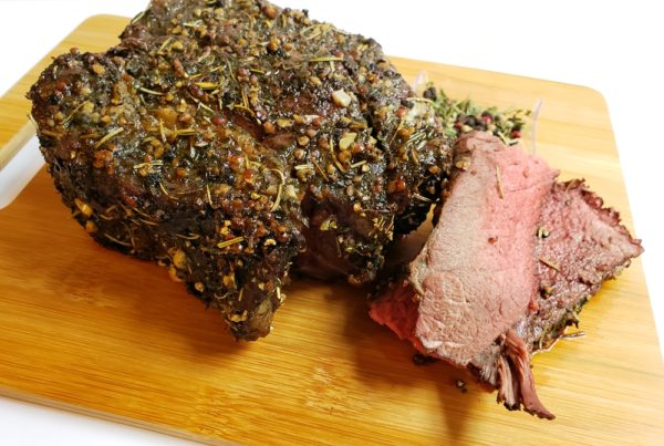 garlic herb crusted beef roast