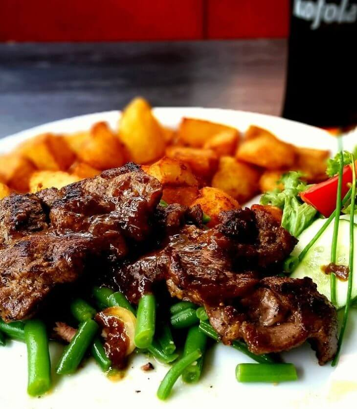 vitamin rich steak with potatoes