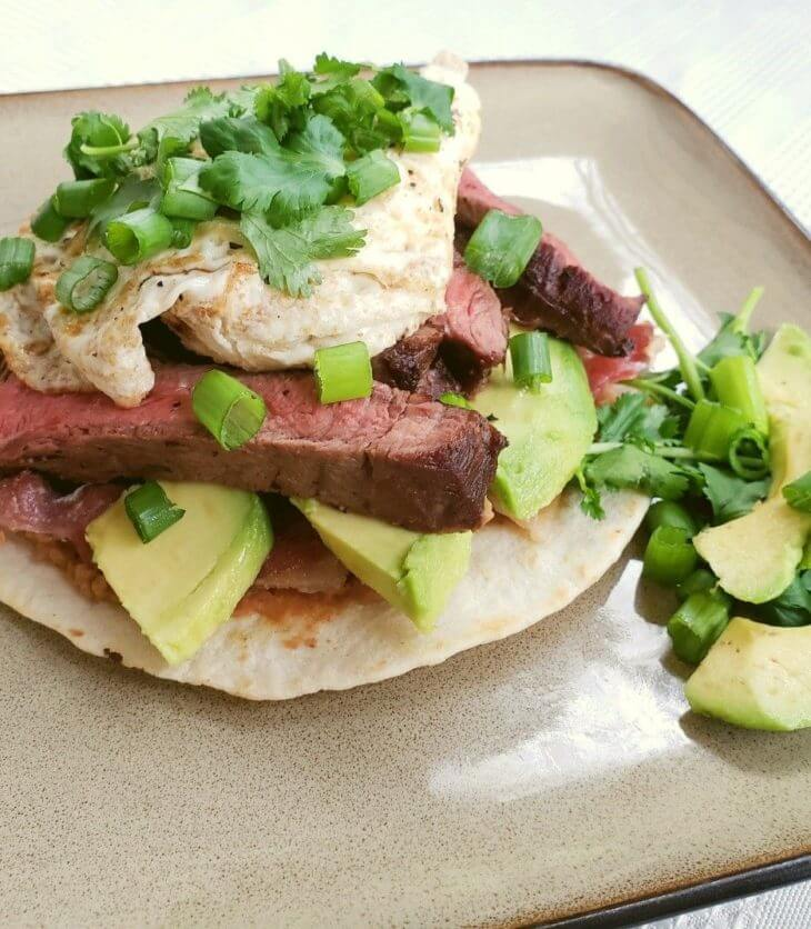 steak tostada breakfast