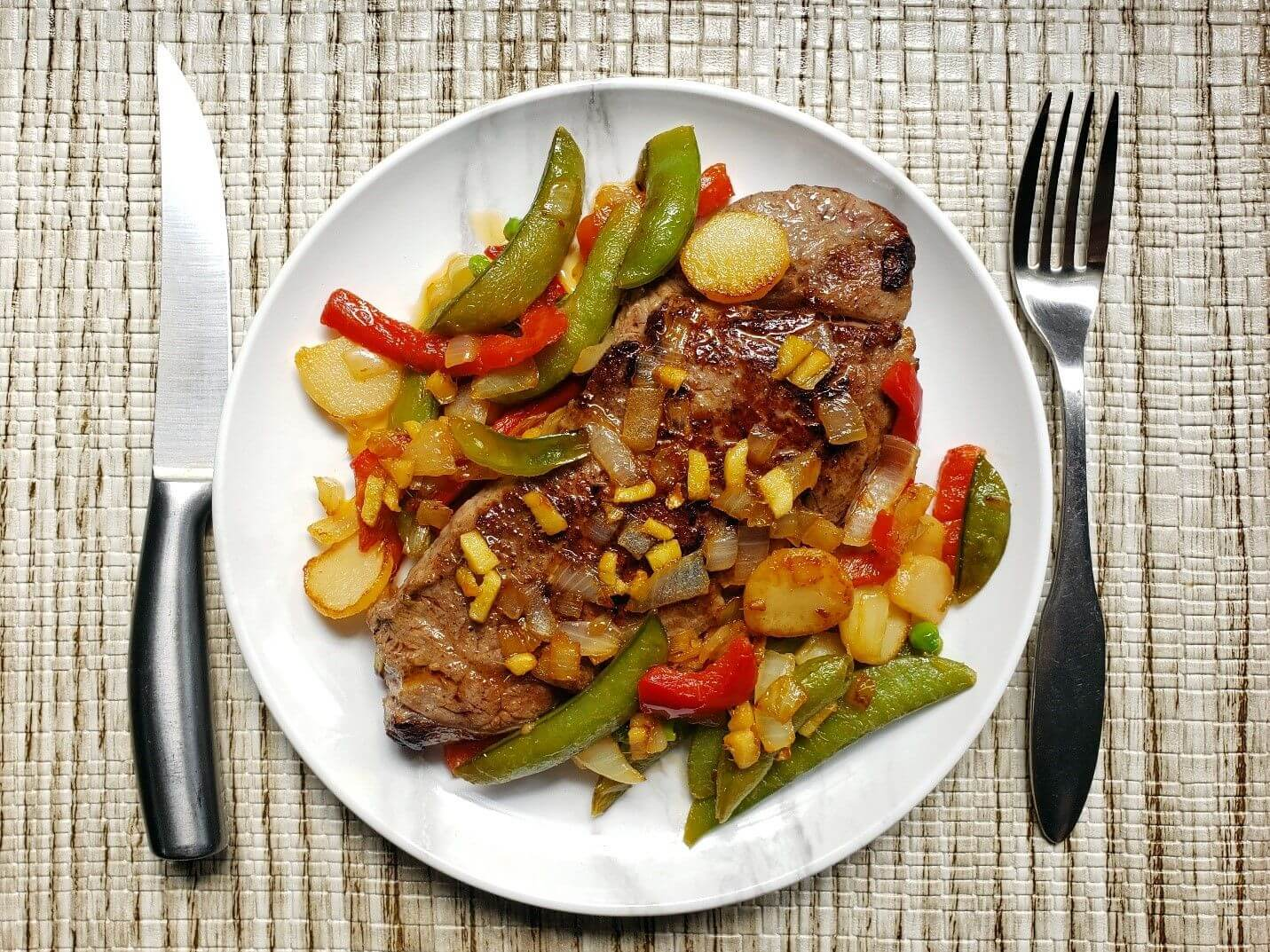 Asian Ginger Seared Bone In Strip Steak Steak University