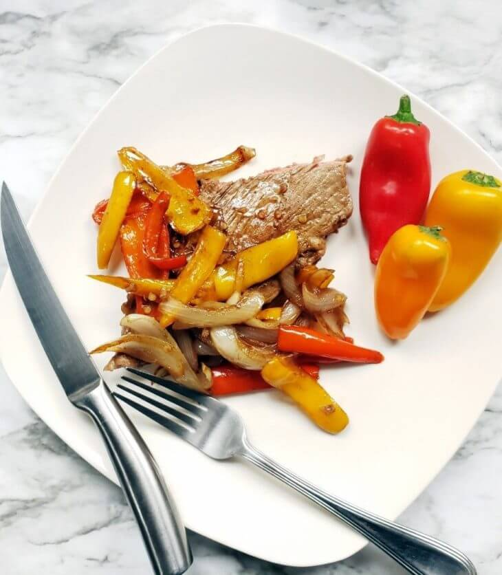 tangy and sweet pepper steak