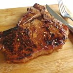 sweet sour and spicy t-bone steak