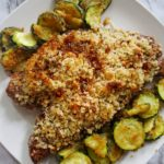 Parmesan-Crusted Steak and Zucchini