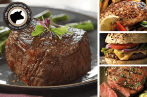 Premium Angus Beef Filet Mignons Top Sirloins Chicken Breasts and Steak Burgers Buy Online Shipped in the Mail